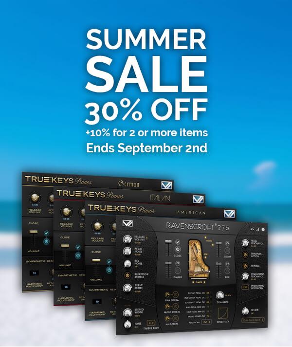 VI Labs Summer Sale - 30% OFF Ravenscroft and True Keys! - KVR Audio